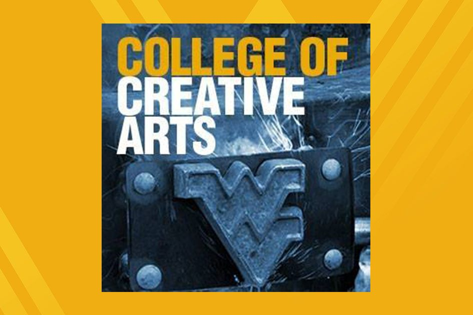 College of Creative Arts flyer with flying WV rendered in a heavy metal license plate