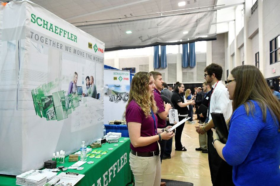 People at the career fair.