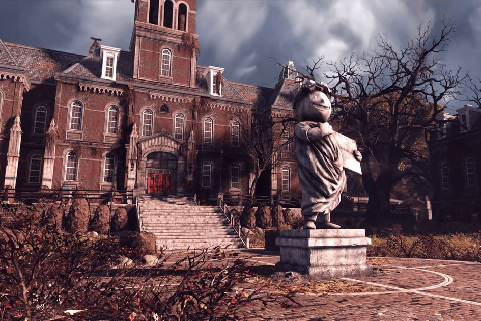 A shot of Woodburn Hall in the Fallout video game.