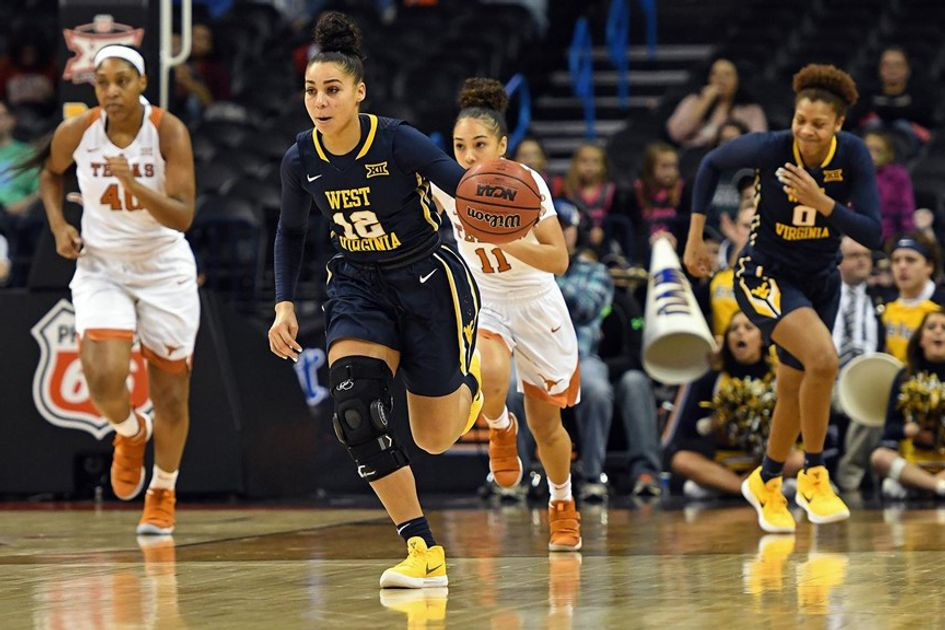 Women's Basketball on the court against Texas