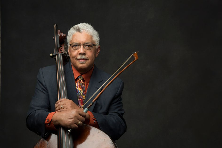 Rufus Reid pictured with his instrument.