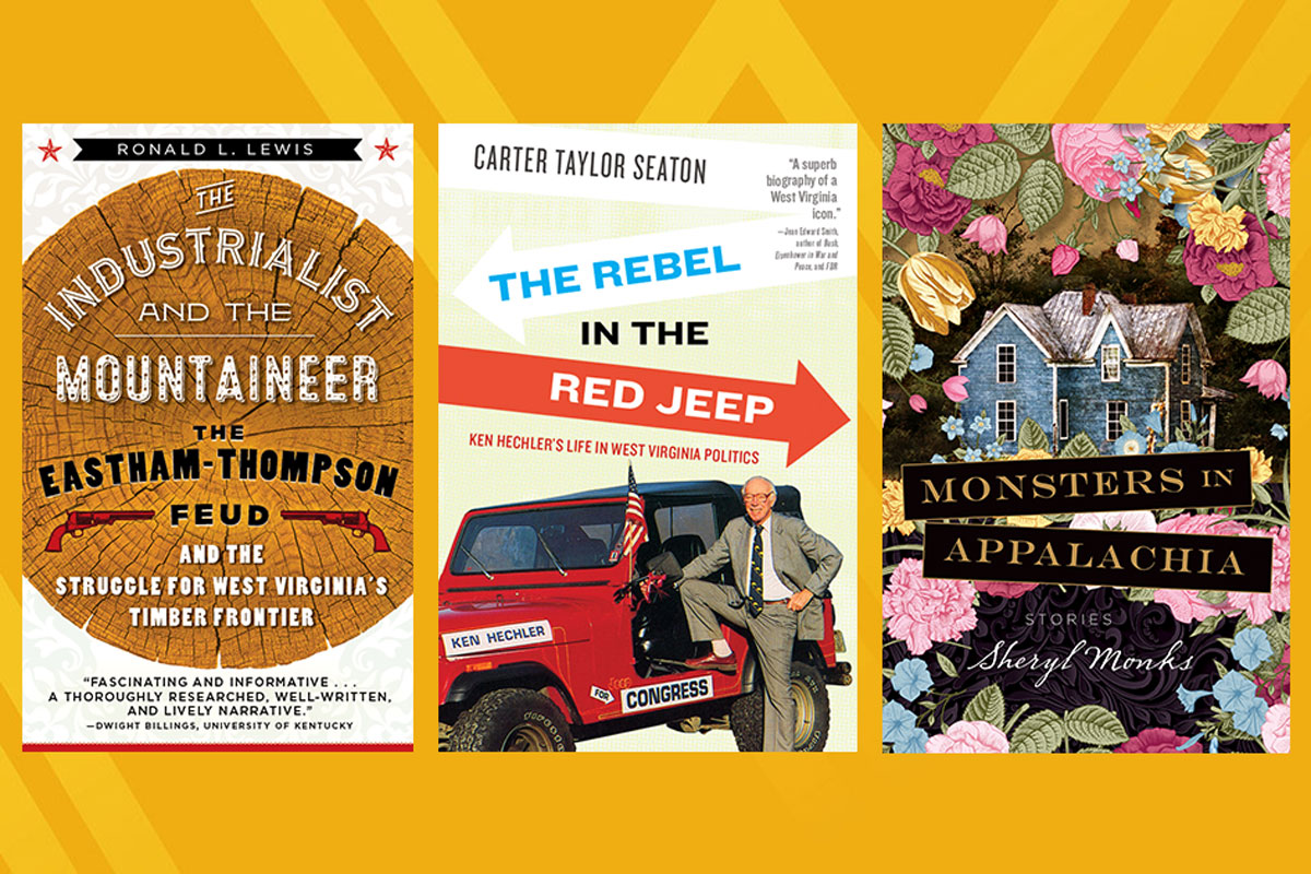 The covers to the the three books that are finalists for the Appalachia book of the year.