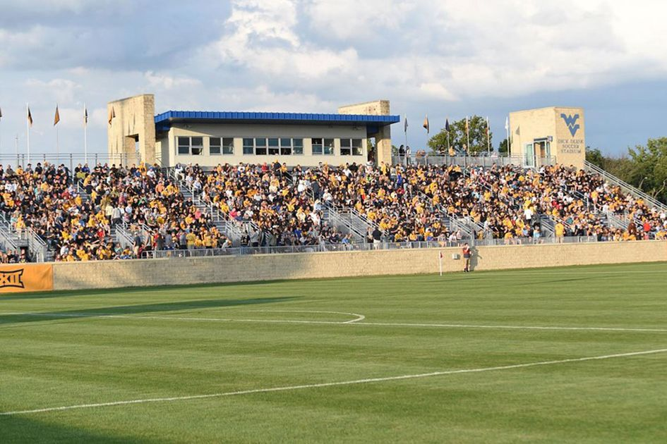 WVU soccer field with packed stands