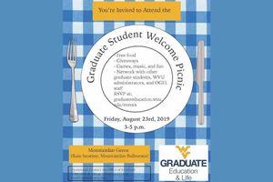 graduate student picnic flyer