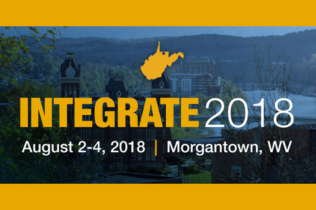 Integrate graphic - Integrate 2018 - August 2-4, 2018 | Morgantown, WV