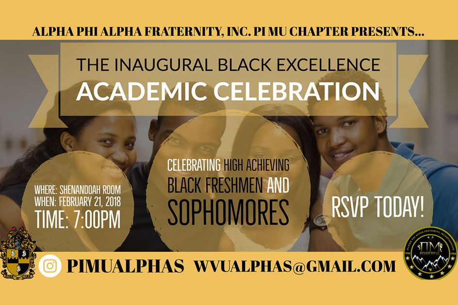The Inaugural Black Excellence Academic Celebration graphic