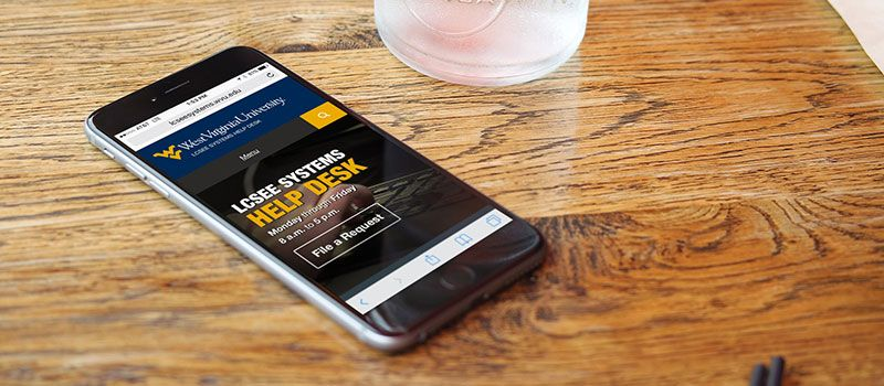 LCSEE Systems Website on iPhone