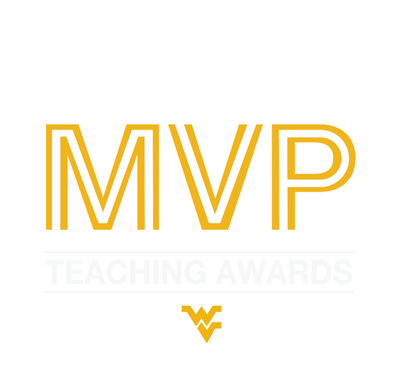 MVP Teaching Award image and flying WV logo