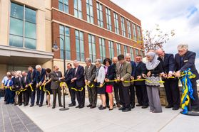 The new Agricultural Sciences building ribbon cutting ceremony