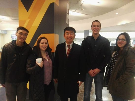 Dr. Liu with Students