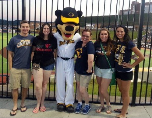 Recruiting community participants at a West Virginia Black Bears game