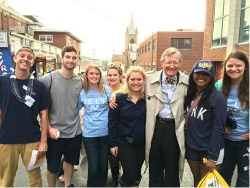 Members of Psychology Club with President Gee