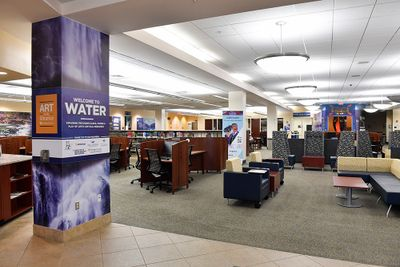 Water Exhibit in WVU Downtown Library