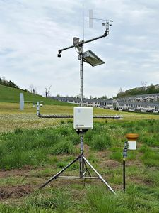 A climate station in the West Run Watershed, Morgantown, WV.