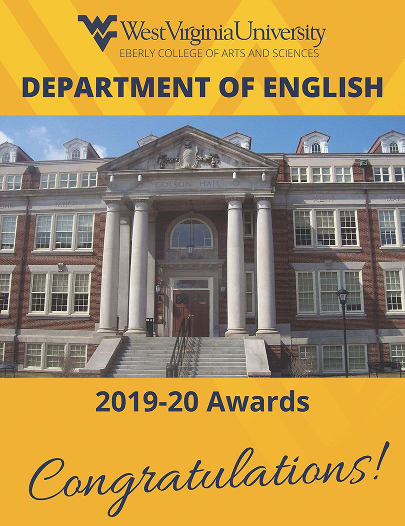 2020 English Student and Faculty Awards p. 1