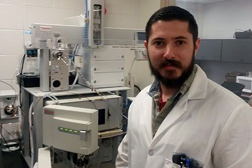 Bionano researcher with Q-Exactive Mass Spec