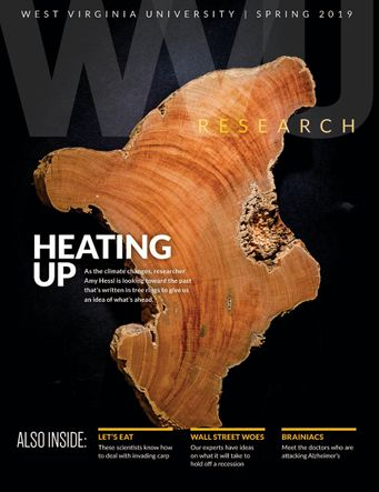 Heating Up - WVU Research Magazine Cover
