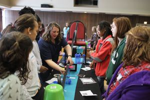 BridgeValley CTC's Introduce a Girl to Engineering Day connects eight-grade girls to women studying and working in engineering fields.