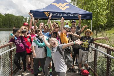 Students pose for a photo during the West Virginia Science Adventure Camp.