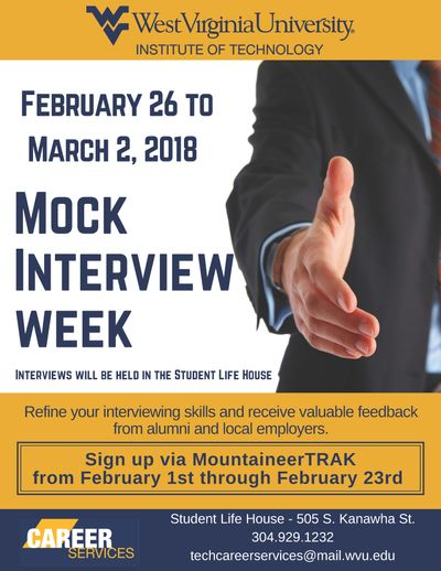 Mock Interview Week will help students get in interviewing