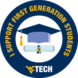 I support first generation students sticker design