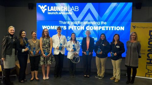 WVU Tech students at the women's pitch competition in Morgantown.