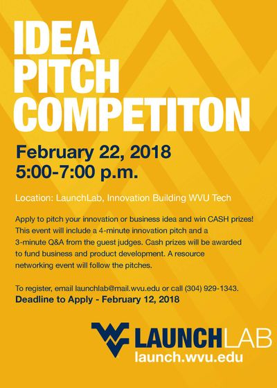 Pitch competition flier