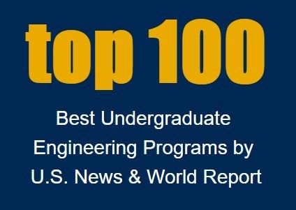 top 100 best undergraduate engineering programs by US News and World Report