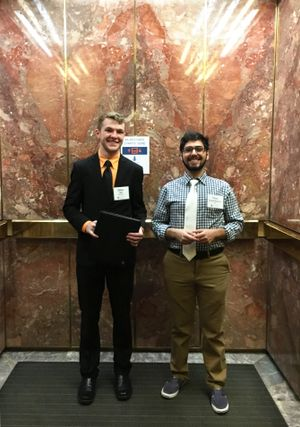 WVU Tech student Nima ShahabShahmir (right) and WVU student Ethan Ball.