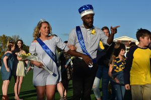WVU Tech Homecoming royalty, MaKayla Waugh and Elisha Boone.