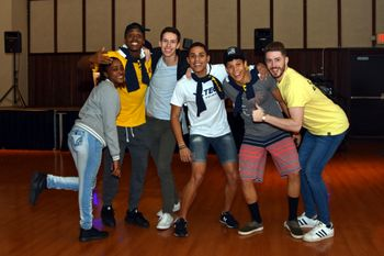 Students enjoy a decades-themed dance during Homecoming 2016.