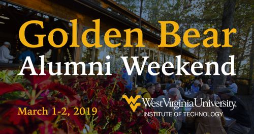 An invitation that reads: Golden Bear Alumni Weekend, March first through second, 2019.