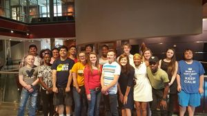 SSS students attend STOMP at the Clay Center in Charleston.