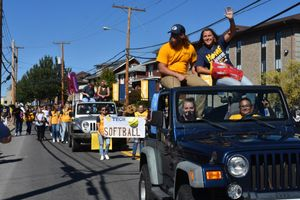 WVU Tech students participate in the Homecoming parade