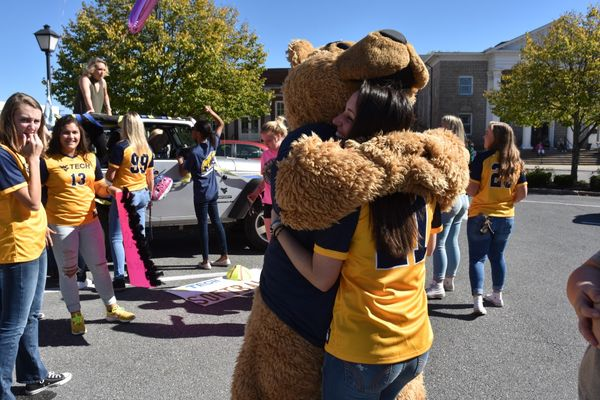 A homecoming bear hug