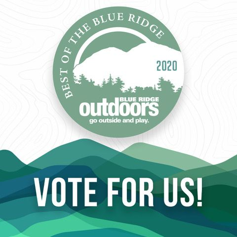 Vote for us in the Best of 2020 with Blue Ridge Outdoor Magazine
