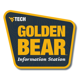 The Golden Bear Information Station logo, represented by an old-fashioned state park sign.
