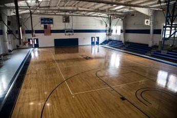 Van Meter Gym basketball court
