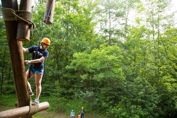 A WVU Tech student participates in a Tech Adventures outing during Tech Outdoor Orientation