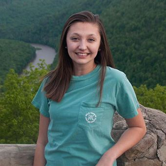 Sydney White standing at the Coopers Rock overlook