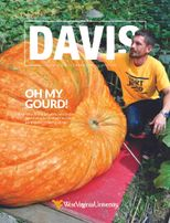 Spring 2018 Davis Magazine cover with main text Oh My Gourd!