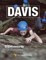 Davis College Fall 2019 Magazine cover with with text STEMventures