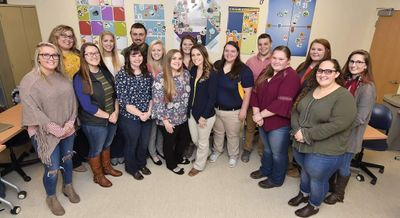 Group photo of WVU agricultural and education students