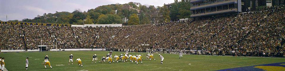 Football game at Old Mountaineer Field.