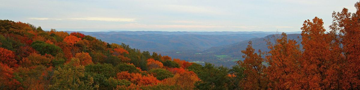 Scenic view of the mountains during fall.