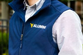 Alumni gear on male model