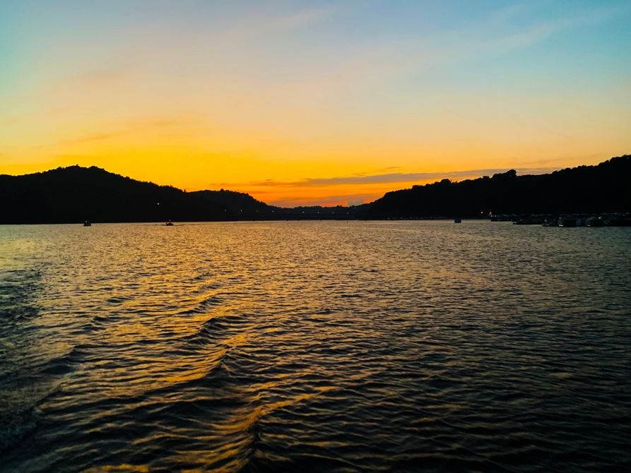 A sunset over Cheat Lake, WV