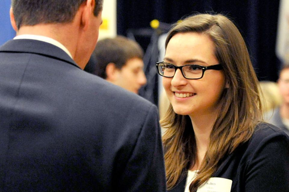 WVU Student in business suit