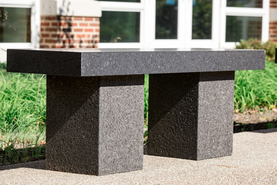Granite Bench from the EAC Garden