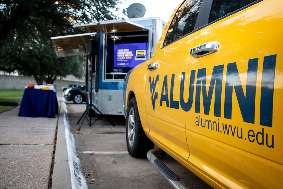 Alumni Truck and Trailer at an event